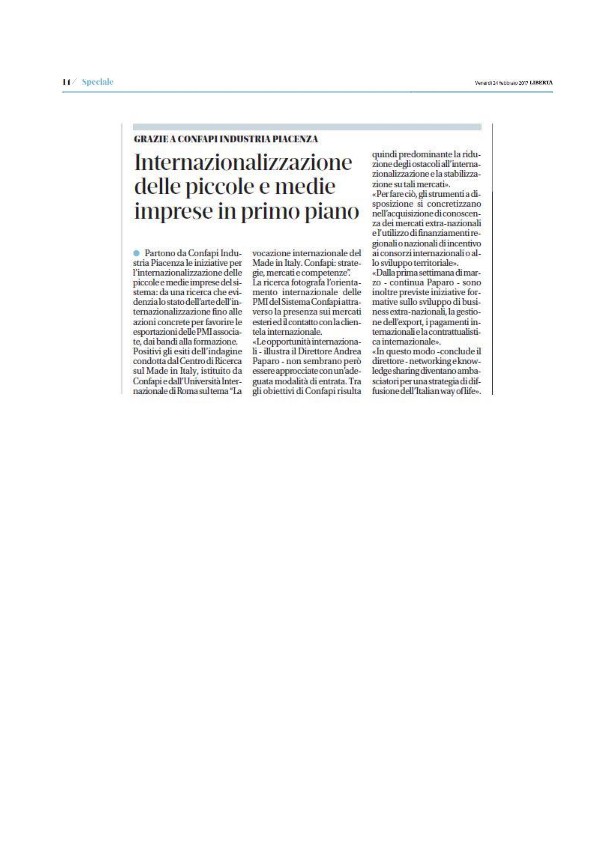 PMI In Forma: Internazionalizzazione Delle Piccole E Medie Imprese